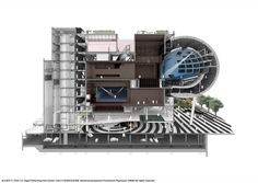 OMA's Taipei Performing Arts Center. Sectional perspective. @Evan Sharp