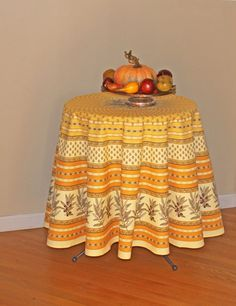 70 inches Round 100 Natural Cotton Tablecloth  by SoleildeProvence, $68.00