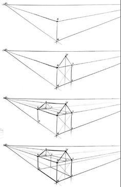 Interior Architecture Drawing, Architecture Drawing Sketchbooks, Architecture Concept Drawings, Interior Design Sketches, House Architecture, Landscape Architecture, Perspective Drawing Lessons, Perspective Sketch, Point Perspective