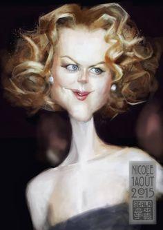 "CARICATURAS DE FAMOSOS: ""Nicole Kidman"" por Eric Scala"