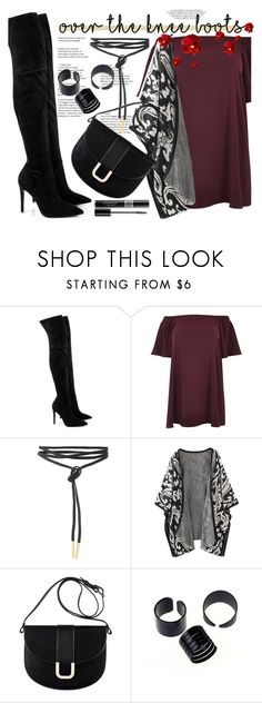 """""""Fall Footwear: Over-The-Knee Boots"""" by dazedandconfused ❤ liked on Polyvore featuring Kendall + Kylie, River Island, A.P.C., Christian Dior, Boots, fashionset and plus size dresses"""