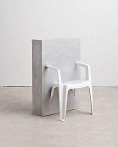 Études Studio   Half Concrete Chair