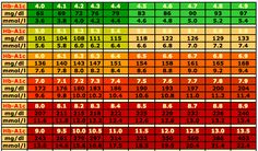 Animas 2020 Sample Log Report And Explanation Plus Blood Glucose Conversion Chart To Mmol L Mg Dl