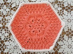 African Flower Dishcloth pattern