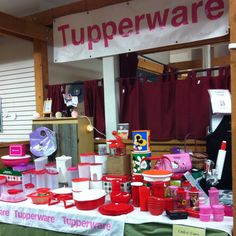 Tupperware booth!