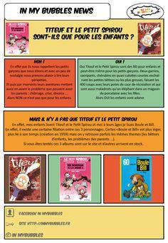In My BuBBles News du 27 février   Titeuf et le Petit Spirou sont-ils que pour les enfants  Boule & Bill précurseur de Titeuf et Petit Spirou  Fait sur Ilustrator  http://inmybubbles.fr   Pour (re)découvrir la BD