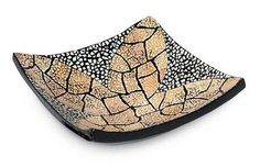 Eggshell mosaic centerpiece - Beige Ixora Flower   NOVICA