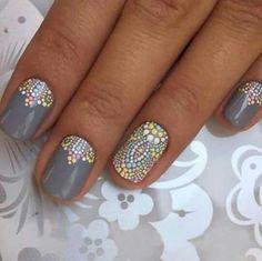 nice Mandala nail art...