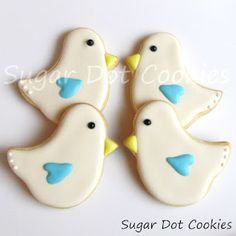 Sugar Dot Cookies: Love Bird Sugar Cookies with Royal Icing
