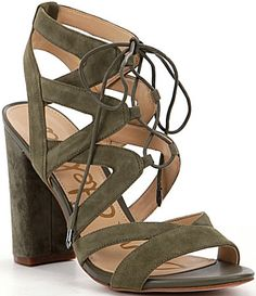cfe318e0790c3b Sam Edelman Yardley Ghillie Sandals  Dillards Tall Boots