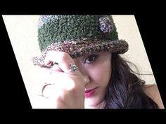 Sombrero a Crochet Fácil - YouTube