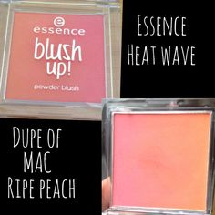 Essence heat wave, perfect dupe for MAC ripe peach... Perfect summer shade Mac dupe Blushes for summer