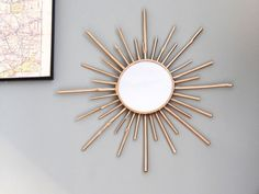 DIY easy and cheap sunburst miror who looks likes real vintage one! https://wherebeesare.wordpress.com/2015/02/04/diy-miroir-soleil/