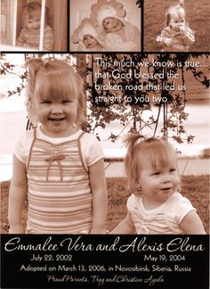 Adoption Announcements   Adoption Information from Adoptive Families Magazine: Domestic, International, Foster and Embryo Adoption Resources