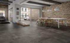 Suelos grises estilo hormigón, ideales para lofts industriales