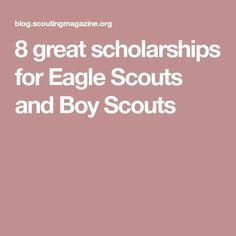 These days, higher education comes with a higher price tag. These scholarships for Eagle Scouts will help take out some of the sting. Scout Mom, Girl Scout Swap, Girl Scout Leader, Eagle Scout Project Ideas, Boy Scouts Merit Badges, Cub Scouts Bear, Tiger Scouts, Eagle Scout Ceremony, Scout Activities