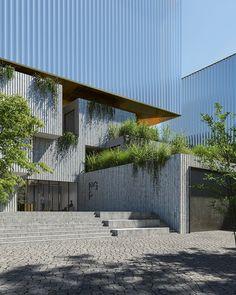 ohboi + JIKA-CZ design the new depository for national gallery prague Praha, Pergola, Outdoor Structures, Architecture, Arquitetura, Outdoor Pergola, Architecture Illustrations, Arbors, Architecture Design