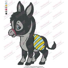free cute baby animal embroidery designs | Product Code: Cute Baby Donkey Embroidery Design