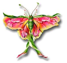 Florist Michel Tcherevkoff creates amazing confections from flower parts, including these gorgeous insects, to photograph.