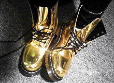 Gold Doc Martens, fabulous
