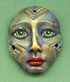 Linsart Creations in Clay: Spirit Doll Faces by Linsart January