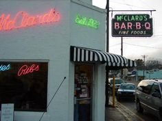 McClard's Bar-B-Q Restaurant and BBQ Sauce in Hot Springs, AR. Found this resturant in the 1000 places to see book and thought I would try it out. It did not disappoint me. They held up to the reputation for excellent ribs, fries, and the tamale plate is awesome!