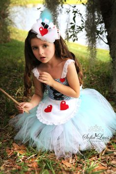 SALE RTS size 2-3T Alice in Wonderland inspired dress and hair piece