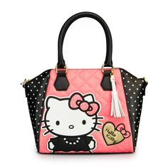 Hello Kitty Quilted Pearls With White Polka Dots Bag - Bags - Hello Kitty - Brands