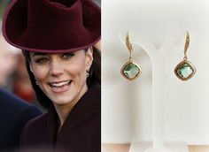 Kate Middleton Peridot Green Amethyst Crystal Gold by tudorshoppe, $29.00