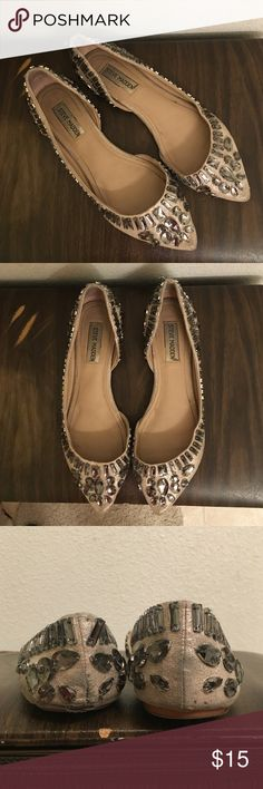 Steve Madden d'orsay embellished flats Worn several times, one bead in the back is close to falling. Steve Madden Shoes Flats & Loafers