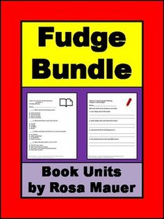 Save time and money with this Tales of a Fourth Grade Nothing Fudge Bundle.Click the links below to find out more about each product or to buy individually. Tales of a Fourth Grade Nothing Short-Answer Comprehension Questions  Fudge-a-Mania Book Unit  Super Fudge Literacy Packet  Double Fudge Reading Comprehension  Otherwise Known as Sheila the Great Book Unit  Double Fudge Literacy Unit with Multiple Choice Questions  Tales of a Fourth Grade Nothing Multiple Choice Questions and More…