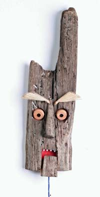 Kickcan & Conkers: Gib mir drei # 24 - Kickcan & Conkers: Gib mir drei # 24 Informationen zu Kickcan & Conkers: Give Me Three Pin Sie k - Painted Driftwood, Driftwood Art, Wooden Art, Wooden Crafts, Rock Crafts, Diy And Crafts, Wood Block Crafts, Driftwood Projects, Creation Deco
