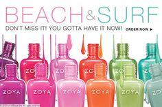 "12. Summer colors: ZOYA's Nail Polish Line ""Beach & Surf"" says it all!"
