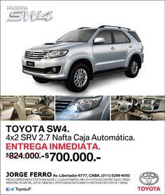SW4 Nafta EXCLUSIVO $700.000  Te esperamos en #TOYOTA  JORGE FERRO Av Libertador 6777