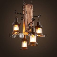 Rustic/Lodge Country Mini Style Pendant Light Ambient Light For Shops/Cafes 220-240V 110-120V Bulb Not Included 6491514 2018 – $182.21