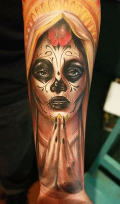 Tattoo Artist - Celiozzi Motorink - muerte tattoo | www.worldtattoogallery.com