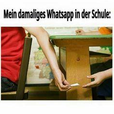WhatsApp damals