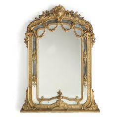 A large Napoleon III giltwood and composition overmantel mirror French, second half 19th century