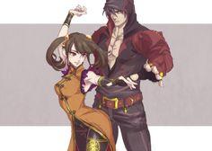 Jin Kazama and Ling Xiaoyu Tekken art by istdog-rakgaki on Tumblr