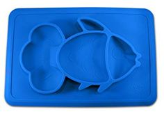 Cups, Dishes & Utensils Responsible Giggle Burp Majestic Blue Suction Portable Placemat For Toddlers Toddler To To