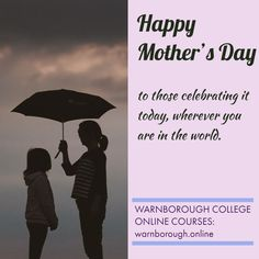 Happy Mother's Day to those celebrating it today, wherever you are in the world. 600 online courses, visit our website: warnborough. Happy Mother S Day, Online College, Being In The World, Online Courses, Mothers, Website, Memes, Celebrities, Quotes