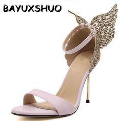 BAYUXSHUO 2017 New Fashion Women Valentine Shoes Bronzing Sequins Big  Bowknot High Heels Sandals Stiletto  ea0bbc316d39