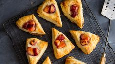 Cornmeal Plum Scones - The New York Times | Spreading the jam on top of a scone is all well and good, but baking it in is even better.