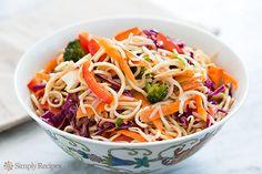 Asian Noodle Salad with Sesame Ginger Dressing