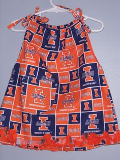 Toddler dress in University of Illinois fabric