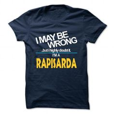 Awesome It's an RAPISARDA thing, Custom RAPISARDA T-Shirts Check more at http://designyourownsweatshirt.com/its-an-rapisarda-thing-custom-rapisarda-t-shirts.html