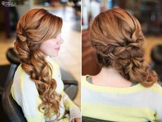Romantic wedding hair long soft braid