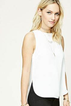 Contemporary High-Low Top | FOREVER21 - 2000227592