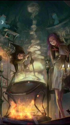 Cooking up halloween spells!