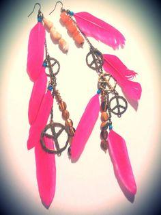 DIY feather earrings by me!